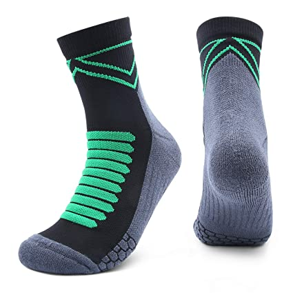 Athletic Hiking Socks Cushioned Crew Socks Fast Dry Compression Sock for Work