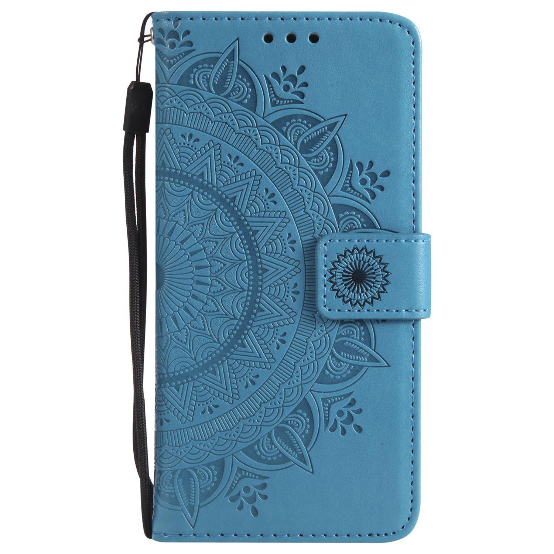 NEXCURIO Coque Sony Xperia XA Cuir PU /à Rabat NEHHA10750 Bleu /Étui Housse Portefeuille Magnetique Antichoc avec Fonction de Support et Coque Souple pour Sony Xperia XA