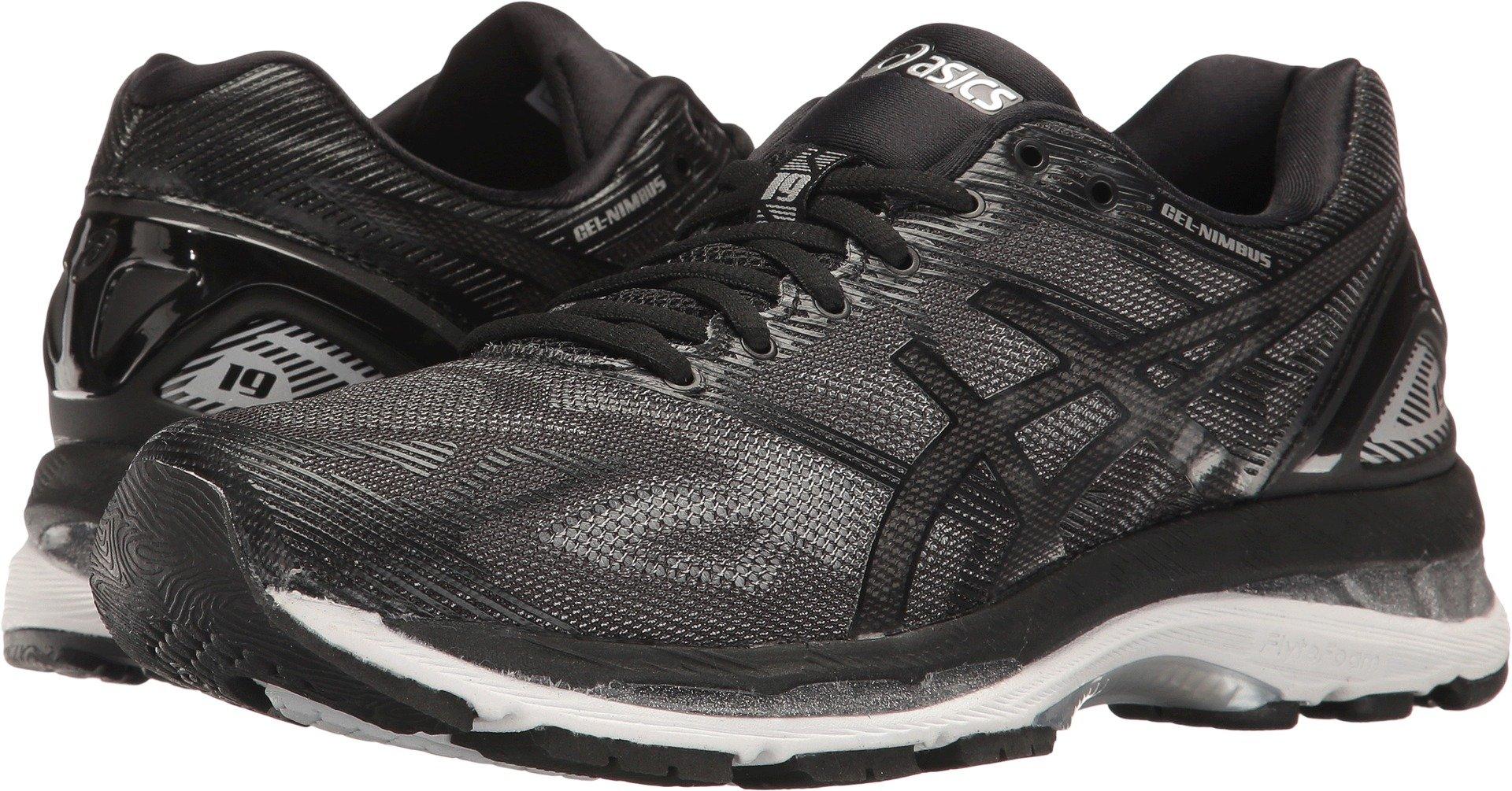 size 40 6a077 3a743 ASICS Women's Gel-Nimbus 19 Running Shoe, Black/Onyx/Silver, 7 M US
