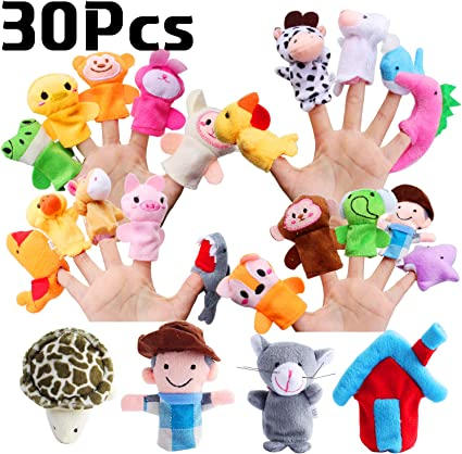 10 Pcs//set New Interesting Ocean Animal Finger Puppets Family Games Kids Toy Fun