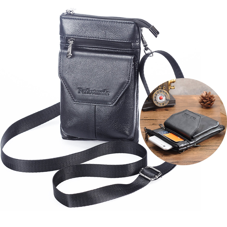 online retailer 779e9 d10a8 Details about Cell Phone Crossbody Purse iPhone 7 Plus Pouch with Belt Clip  Leather Belt Ca...