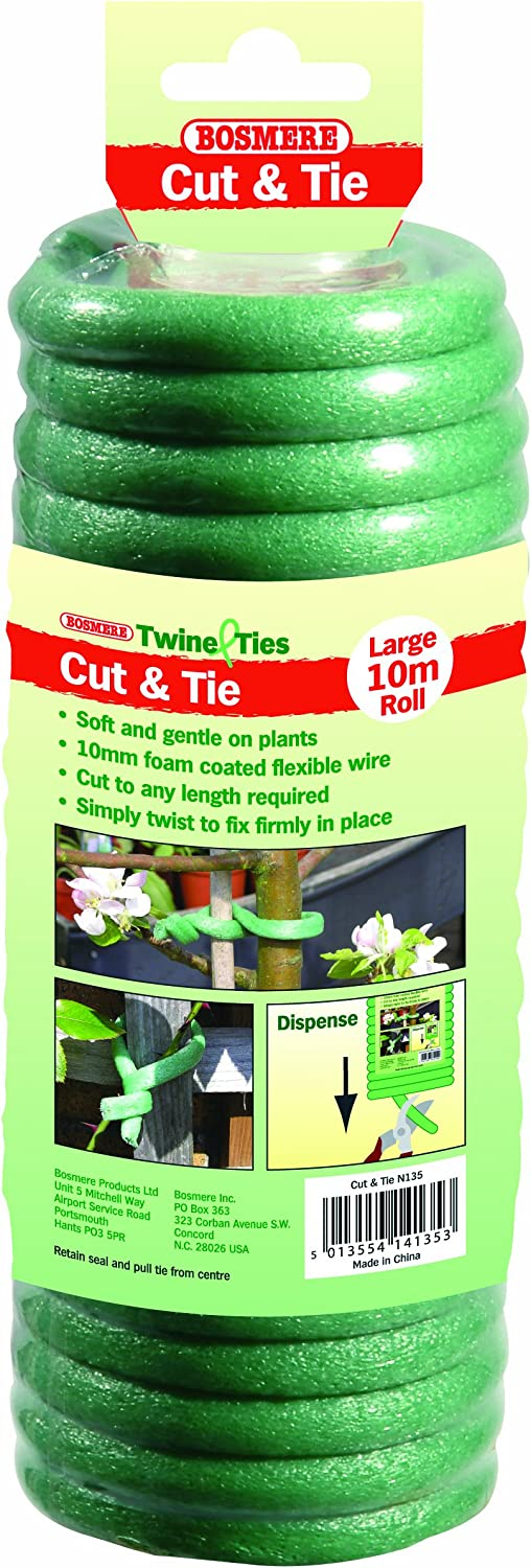 Garden Helpers H249 Cut and Tie Soft Foam Plant Tie for Tomatoes, Vegetables and Flowers