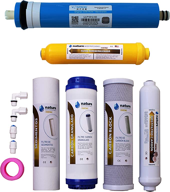 Nature Waterprofessionals Pack 5 Filtros Osmosis Inversa y ...