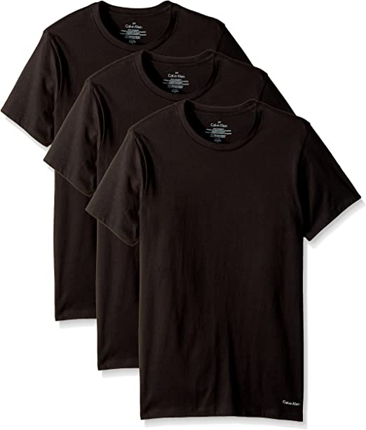 Mens Black by Popular Demand Classic Breathable Short-Sleeve Crewneck Cotton T-Shirt Black