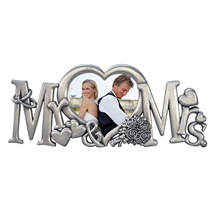 a844b4f3fae4 Amazon.com - Malden International Designs Mr.   Mrs. Metal Wedding Picture  Frame