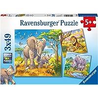 Ravensburger Wild Animals Puzzle 3x49pc,Children's Puzzles