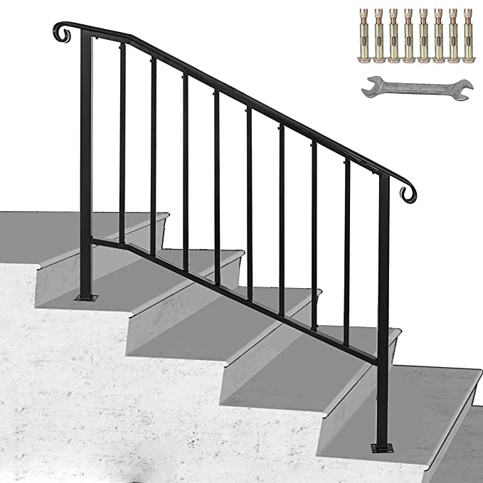 Happybuy - Pasamanos para escalera, acero inoxidable, color ...