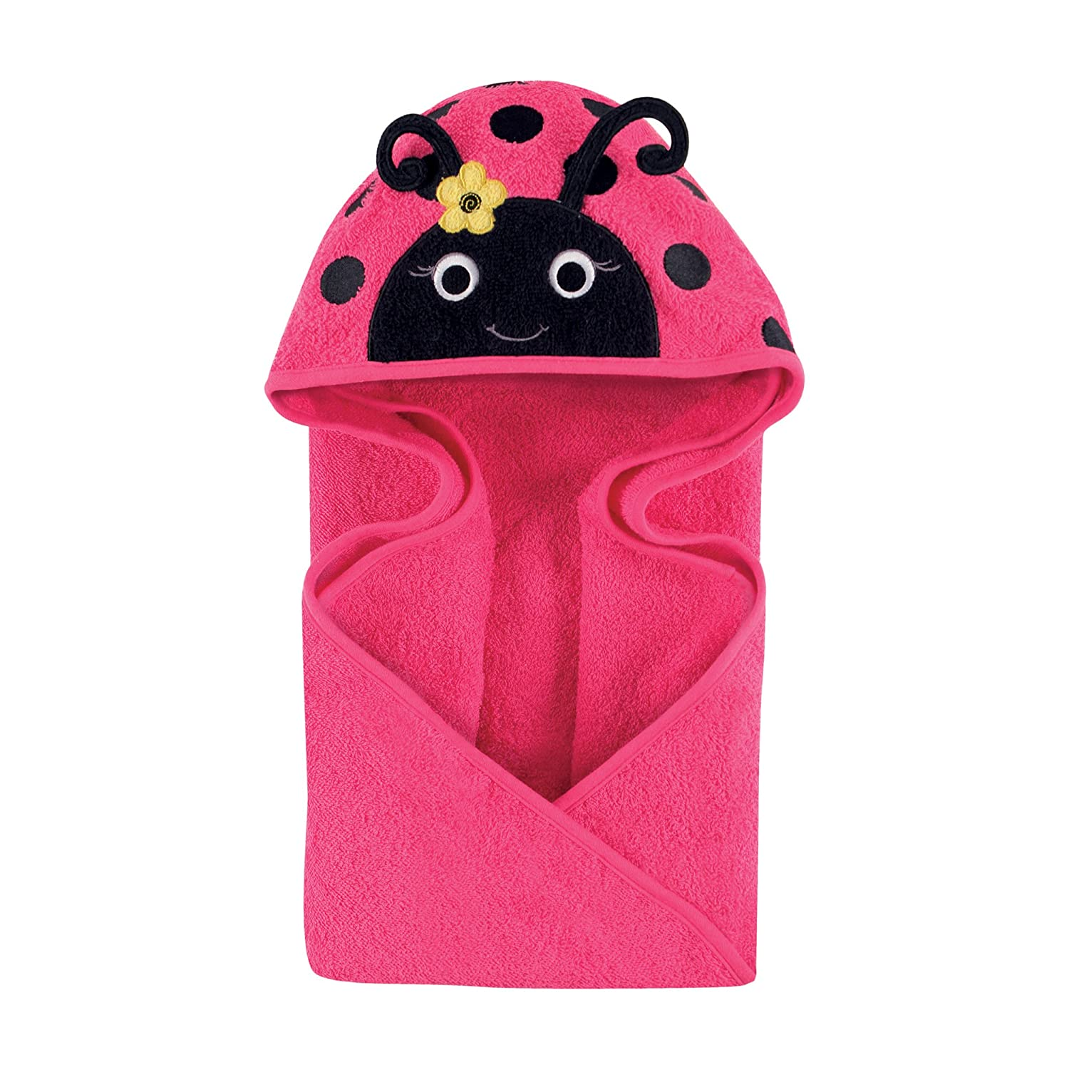 Hudson Baby Animal Face Hooded Towel Mr Owl