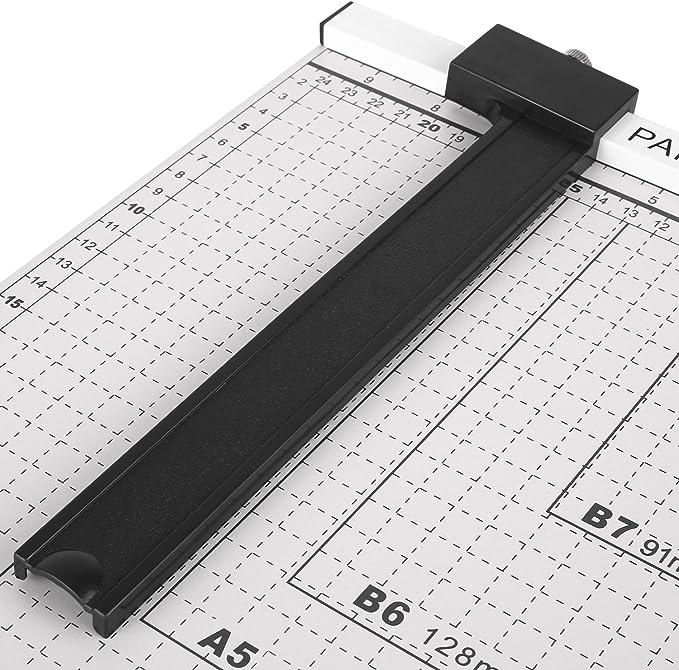 FIXKIT Tagliatrice di Carta Etichette e Foto con Una Lunghezza di Taglio di 48,5 cm Tagliacarte DIN A3 per Voucher Carta Artigianale