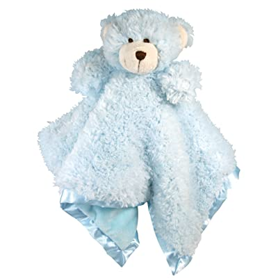 Stephan Baby Plush Cuddle Bud Security Blankie, Blue Bear : Teddy Bear Plush Toys : Baby