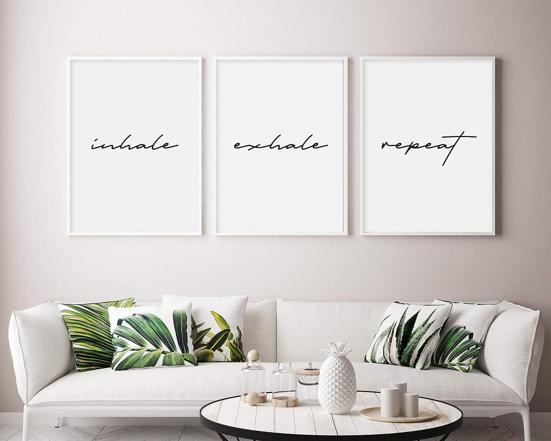 Meditation Bedroom Decor Printable Wall Art Yoga Wall Decor Inhale Exhale Print Breathe Wall Art Yoga Wall Art Fitness Print