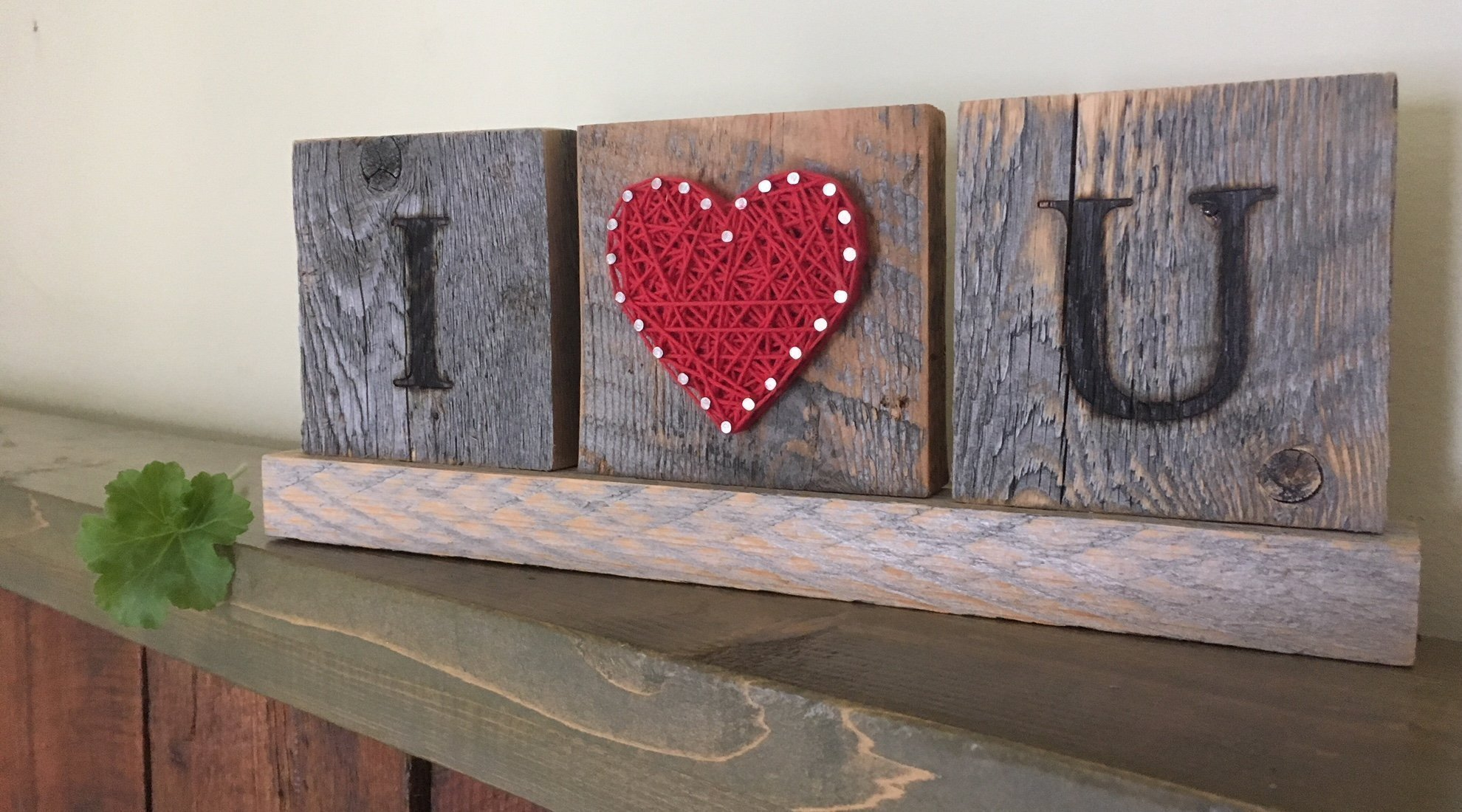 I Love you wooden desk gift. String art love sign. Great gift for Anniversary, birthday, graduation and just because gift by Nail it Art. by Nail it Art (Image #2)