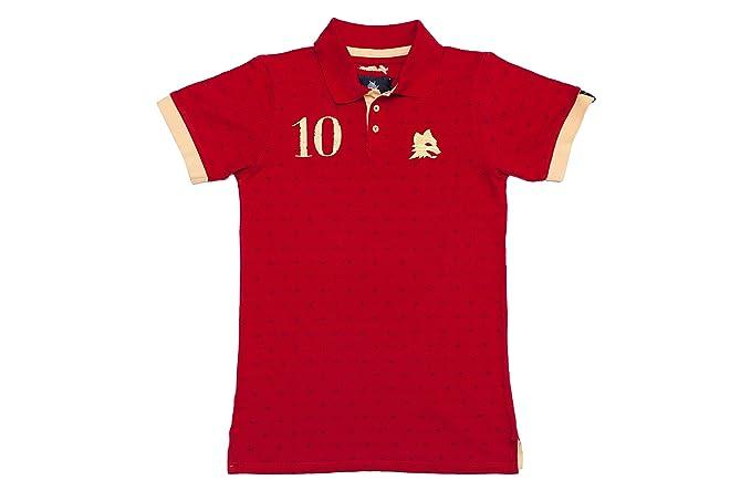 Coolligan - Polo de Fútbol Retro 1927 Giallorossi - Color - Rojo - Talla - XL