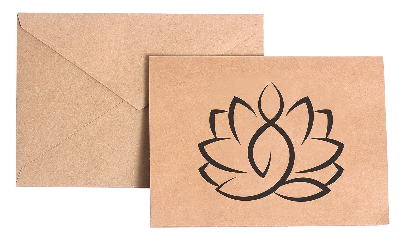 VinMea Yoga Lotus Stationery Note Card Set: Amazon.es: Coche ...