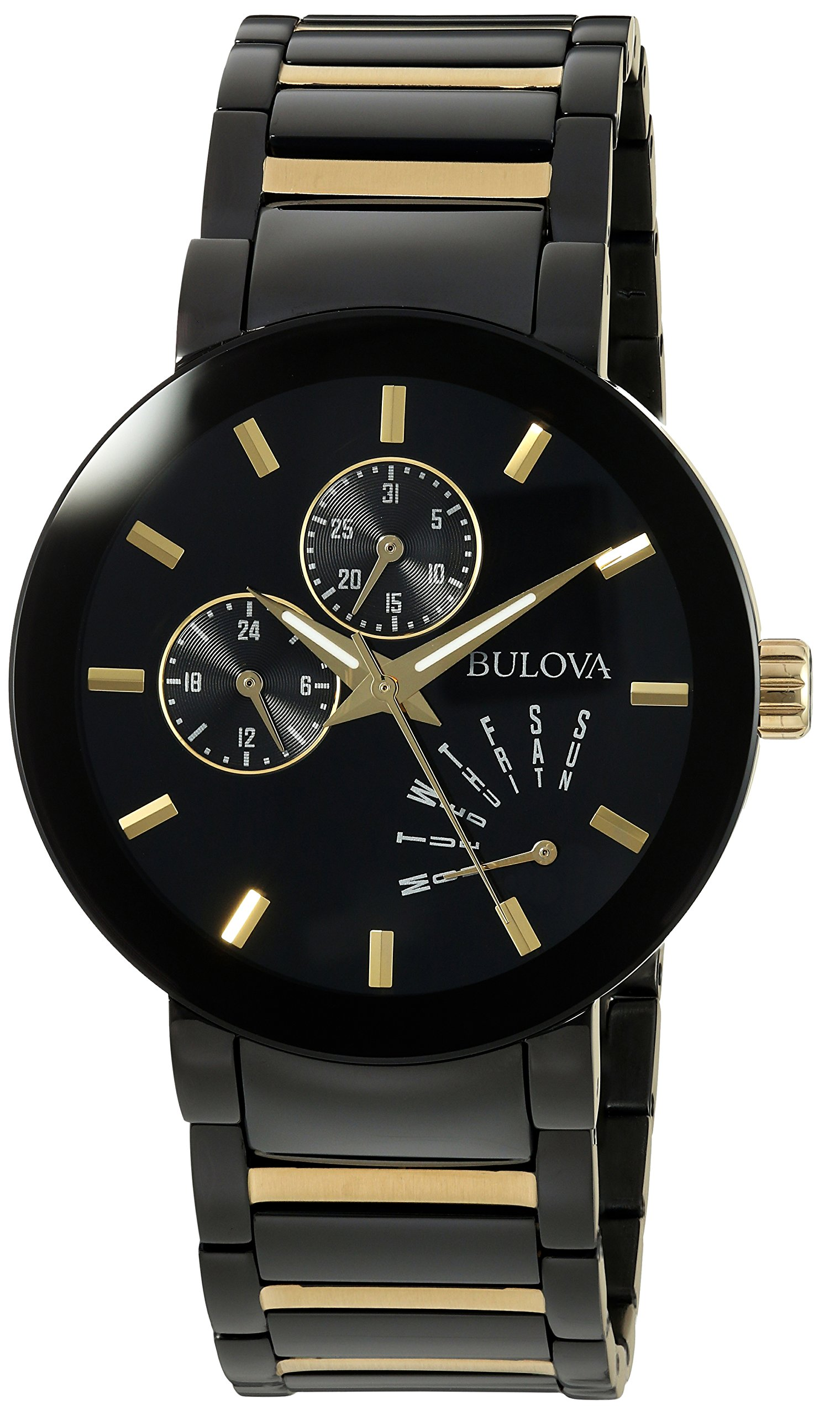 Bulova Men's Quartz Stainless Steel Casual WatchMulti Color (Model: 98C124) by Bulova