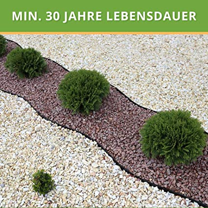 Flexible Borde de Jardín - Bordillo Escondido Plastico - Longitud 10 m (120 mm) - Instalación Simple, Flexibilidad Máxima, Suficientemente Fuerte, Made in EU - Borduras Jardín, Bordillos Para Jardín: Amazon.es: Jardín