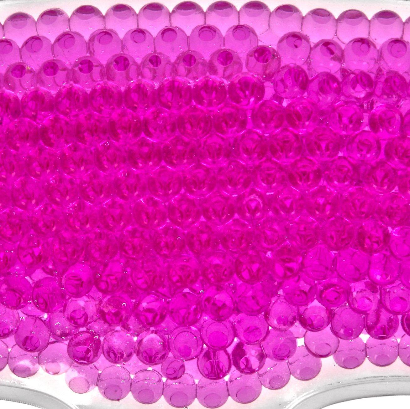 K/ühlende Gesichtsmaske mit rosa Gel-Perlen Migr/änemaske K/ühlmaske Wellnessmaske Entspannungsmaske Gesicht Gesichtskompresse Wasserperlen Cool Face Mask