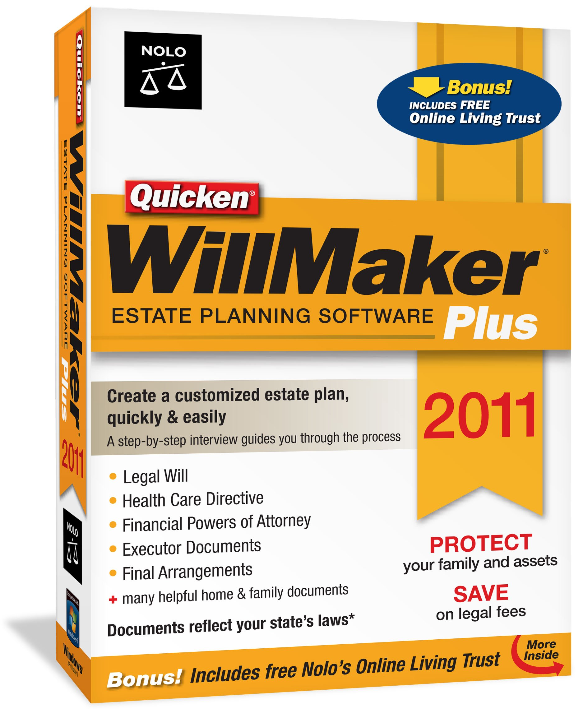 Quicken WillMaker Plus 2011 [Old Version] by NOLO