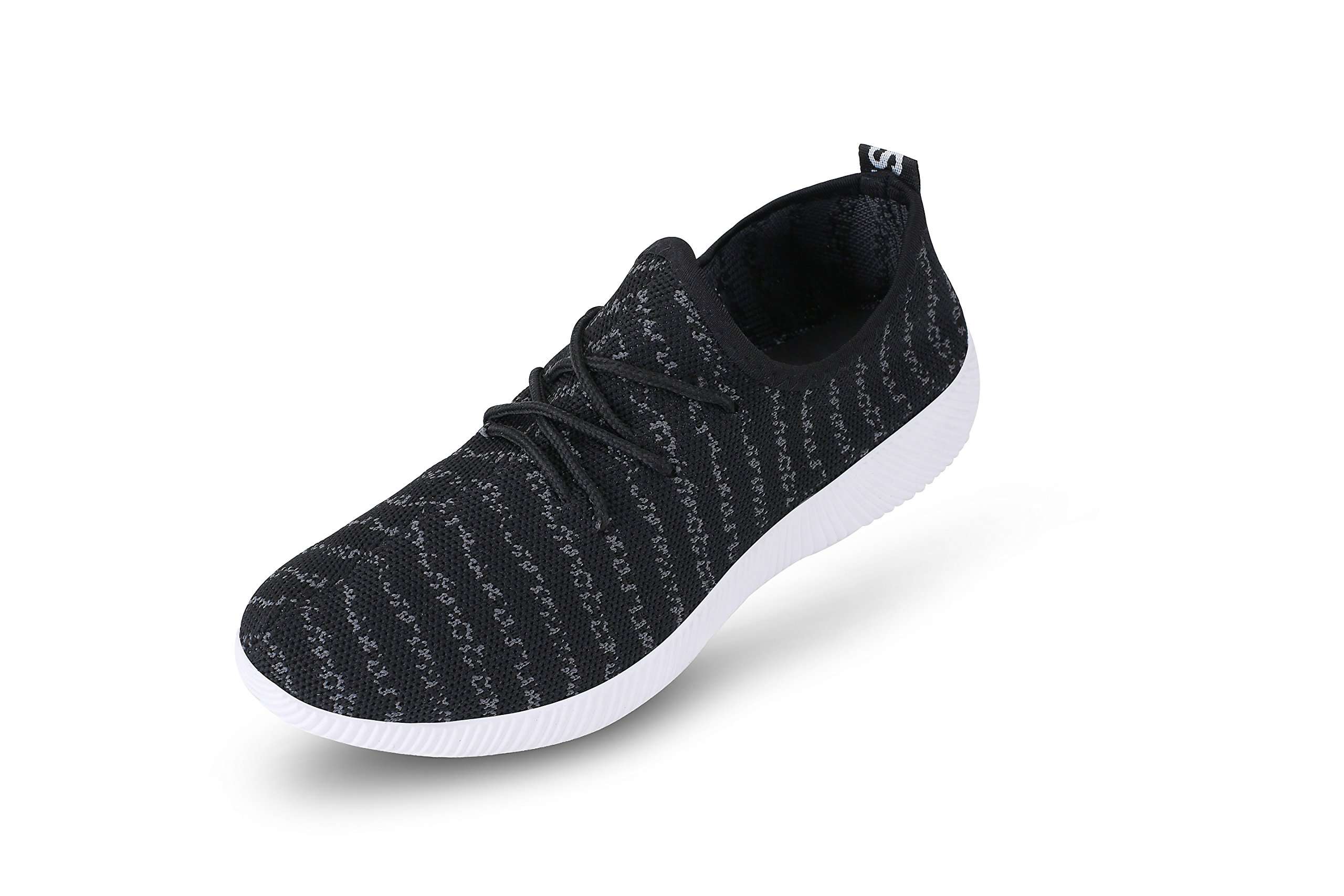 RainingWooD Women's Fashion Sneakers Running Shoes Casual Sport Shoes (8, Black)