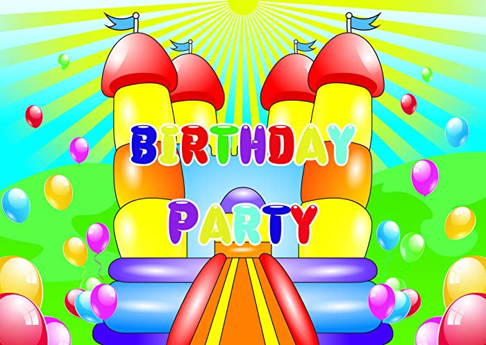bouncy castle theme birthday party invitations invites kids children