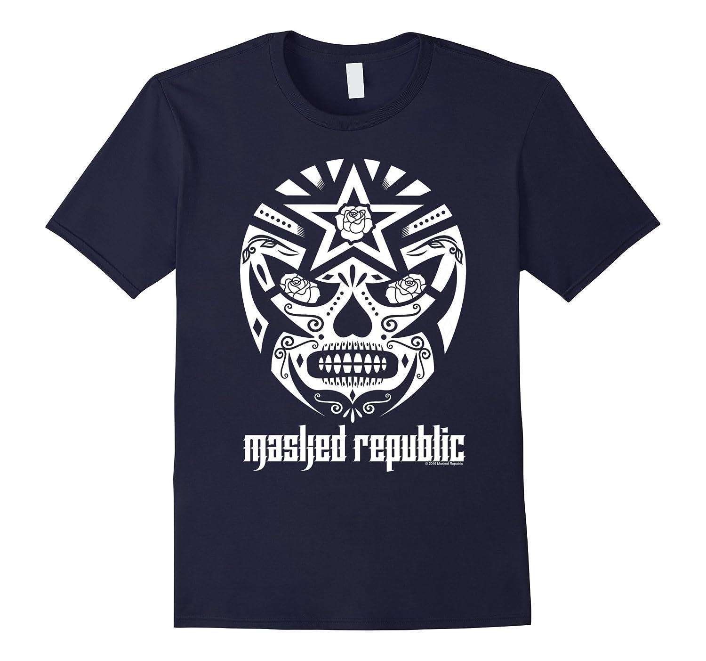 Masked Republic Lucha Libre Dia De Los Muertos Sugar Skull T-Art