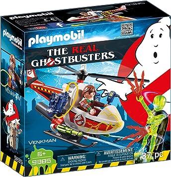 Comprar PLAYMOBIL Ghostbusters Venkman con Helicóptero y Chorros de Agua Reales, a Partir de 6 Años (9385)