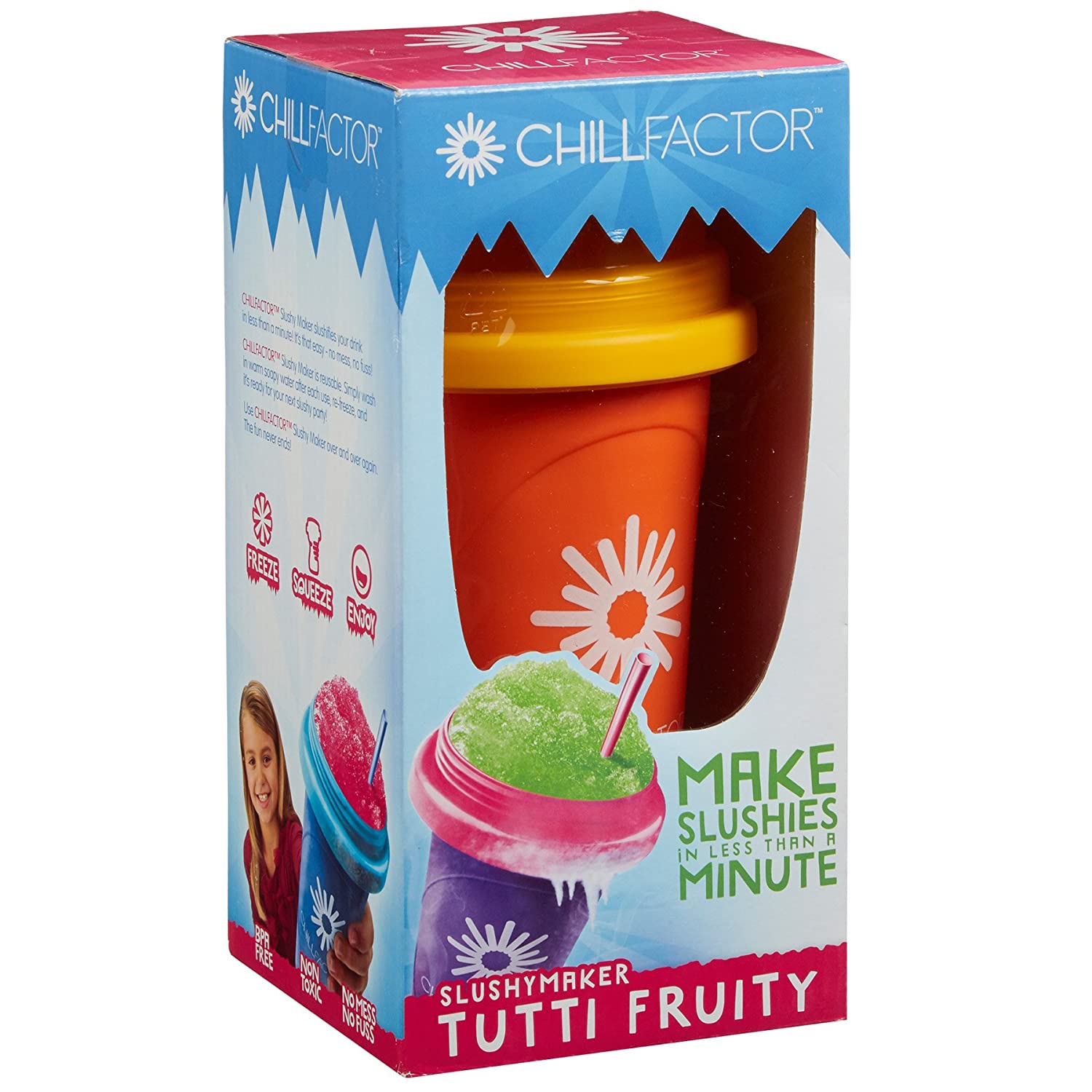 Chill Factor Squeeze Cup Slushy Maker - Colour Blast ToyCentre 400372