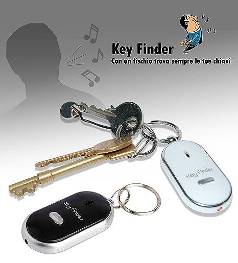 Llavero encuentra - llaves con silvato y luz LED para ver la ...