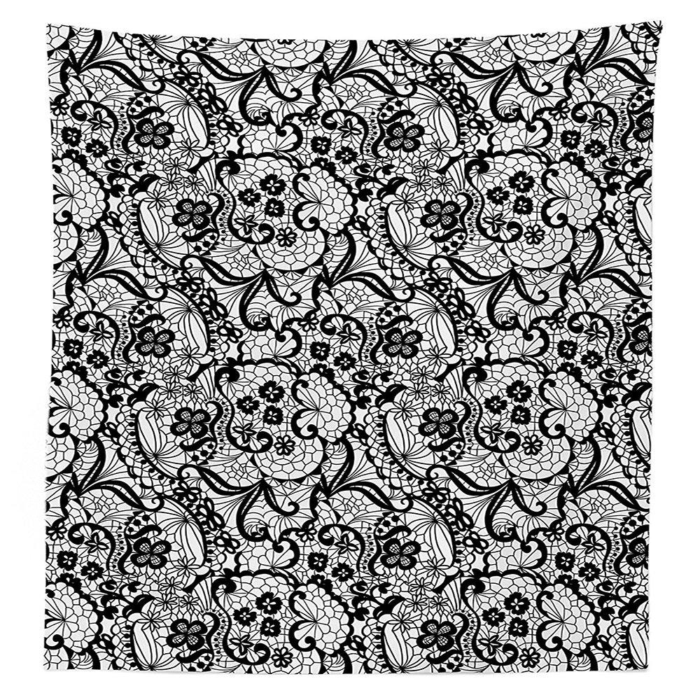 Gothic Decor Tischdecke Muster mit Blumen Floral Classic Handarbeit ...