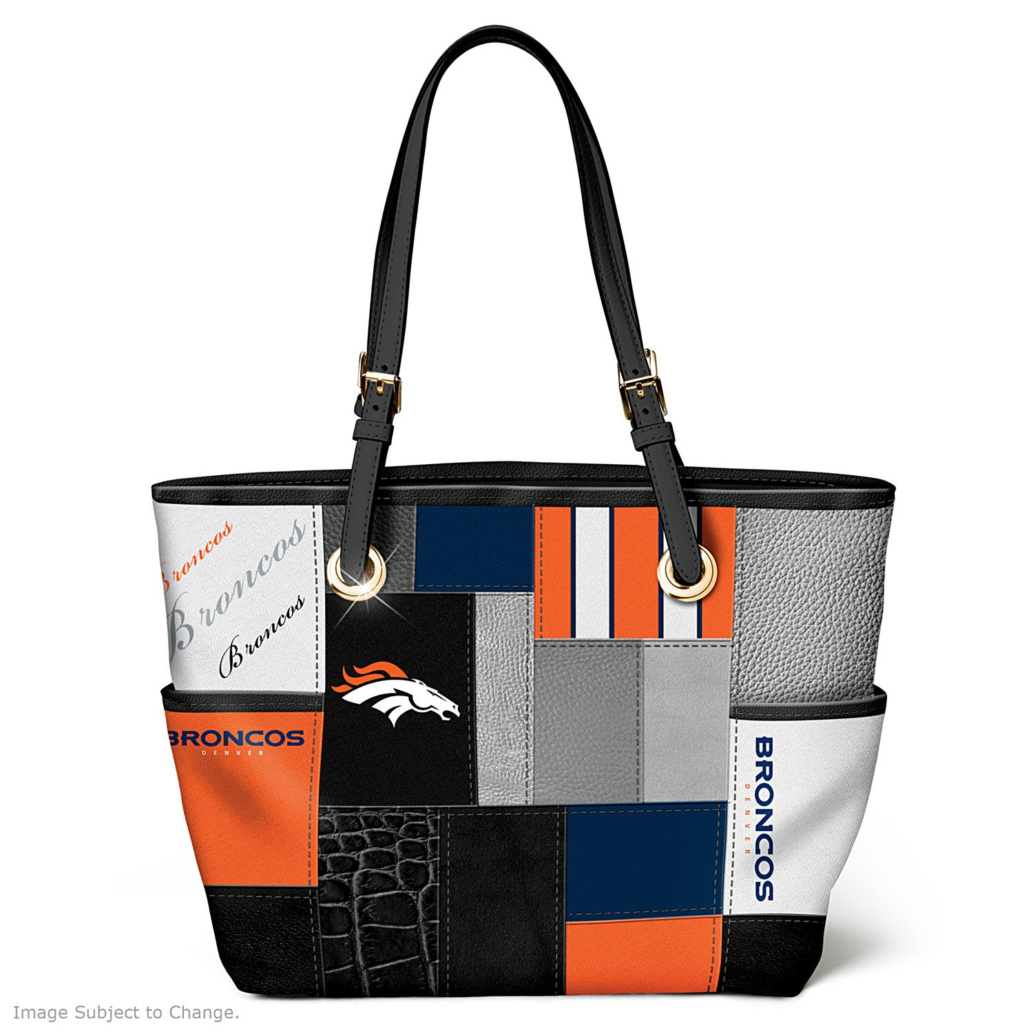For The Love Of The Game NFL Denver Broncos Tote Bag by The Bradford Exchange