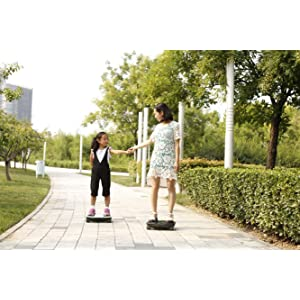 Electric Scooter, F-Wheel Icarbot Self Balance Board, Hoverboard Skateboard Somatosensory Scooter with 4 Wheels, Atmosphere Lamp, Smartphone APP