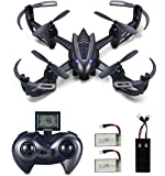 Hasakee RC Helicopter Drone 2.4Ghz 6-Axis Gyro 4 Channels Quadcopter With 720P HD Camera,Headless Mode,2 in 1 Battery Charger and Bonus Battery