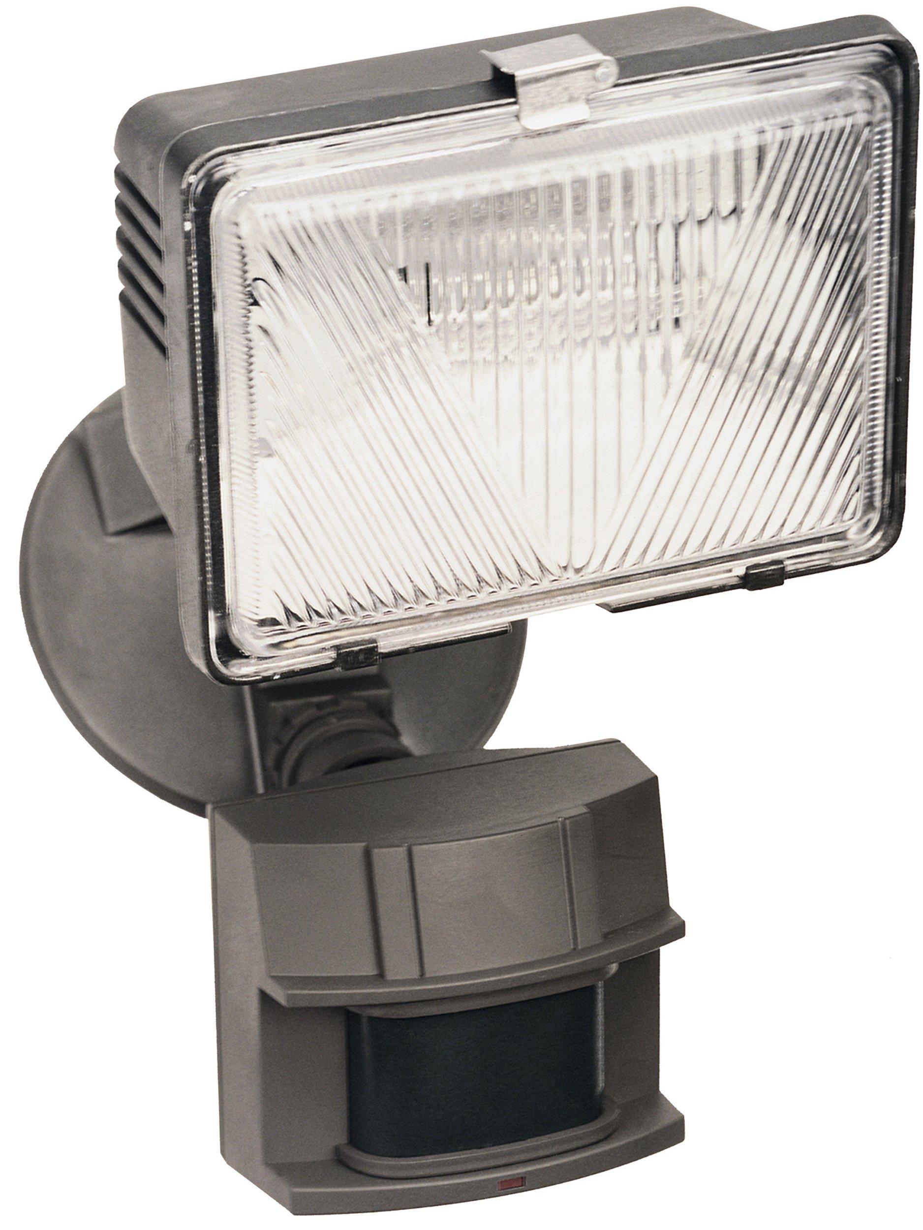 Heath Zenith SL-5525-BZ-C 180 Degree Halogen Motion Sensing Security Light, Bronze