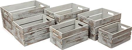 small foot company 11386 Caja de Madera, Vintage Gris, Modernas ...