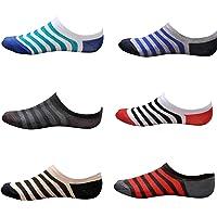 Tom & Gee® Men's Cotton Loafer Socks, Pack of 6 (Multicolour)