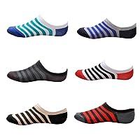 Tom & Gee Men's Cotton Loafer Socks, Pack of 6 (Multicolour)