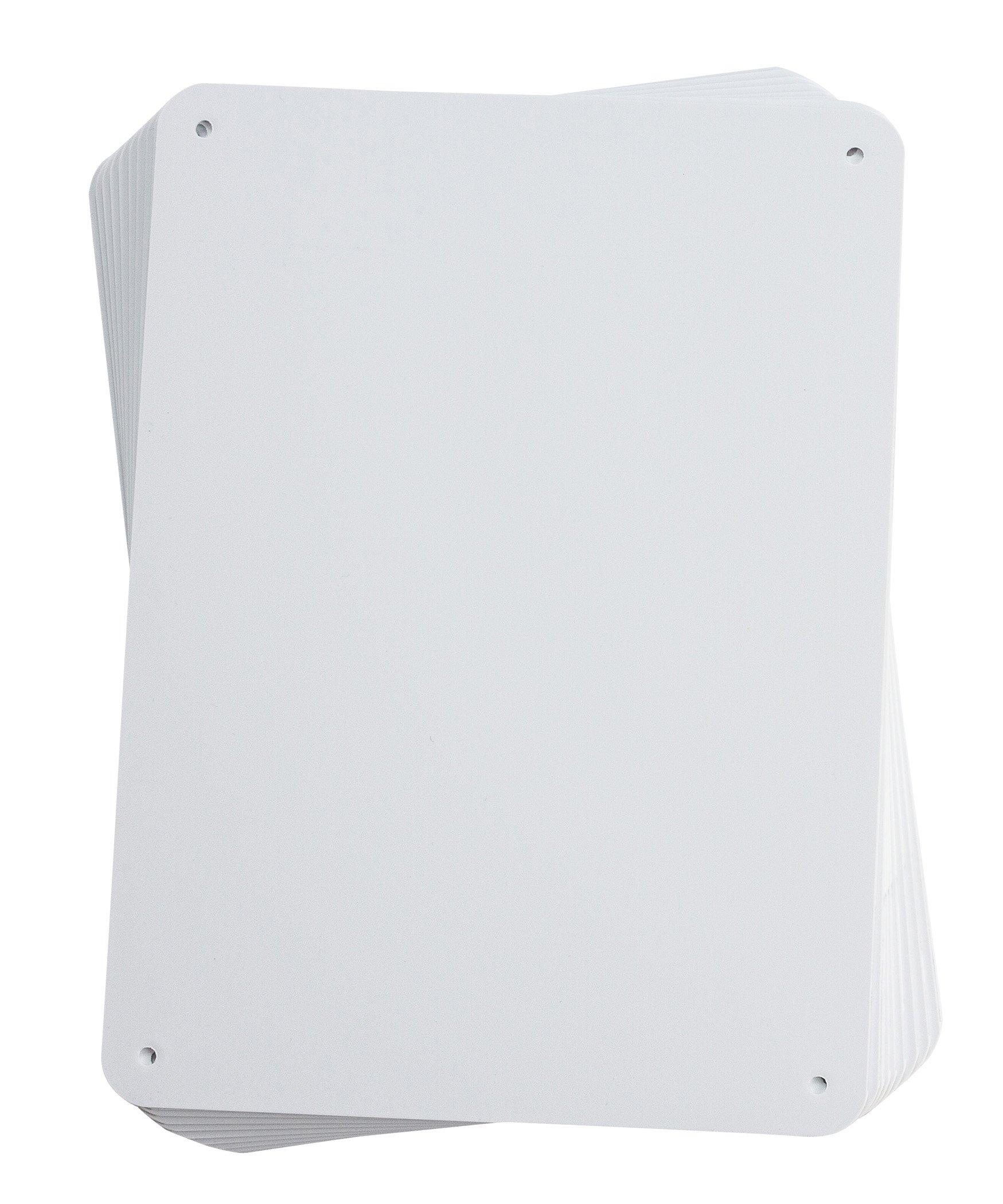 Brady 106460 Sign Blanks, Aluminum, 7.63'' x 10.38'' 7.63'' x 10.38''