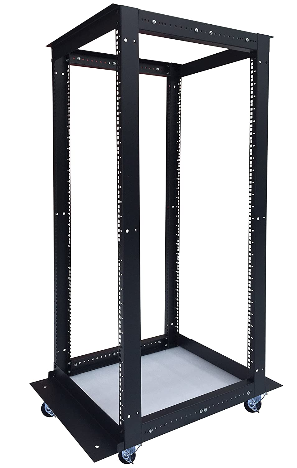 32U 4 Post Open Frame 19' Network Server Rack Cabinet Adjustable Depth 24'-37' Sysracks 32U DOR
