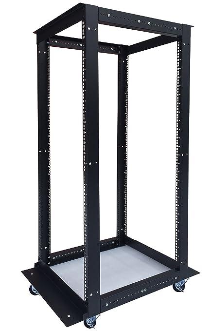 32u 4 Post Open Frame 19 Network Server Rack Cabinet Adjule Depth