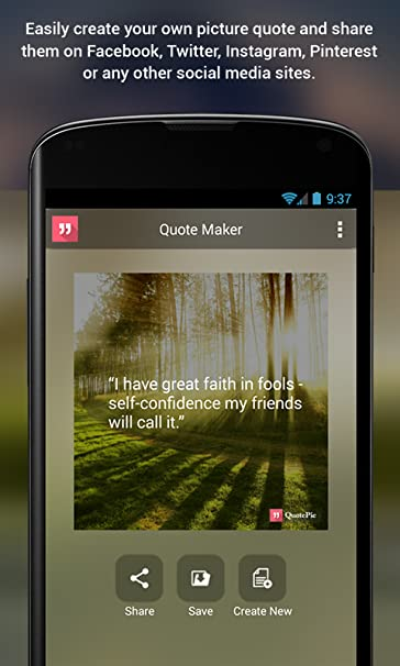 Image of: Own Destiny Takaeinfo Amazoncom Quotepic Quote Maker Appstore For Android