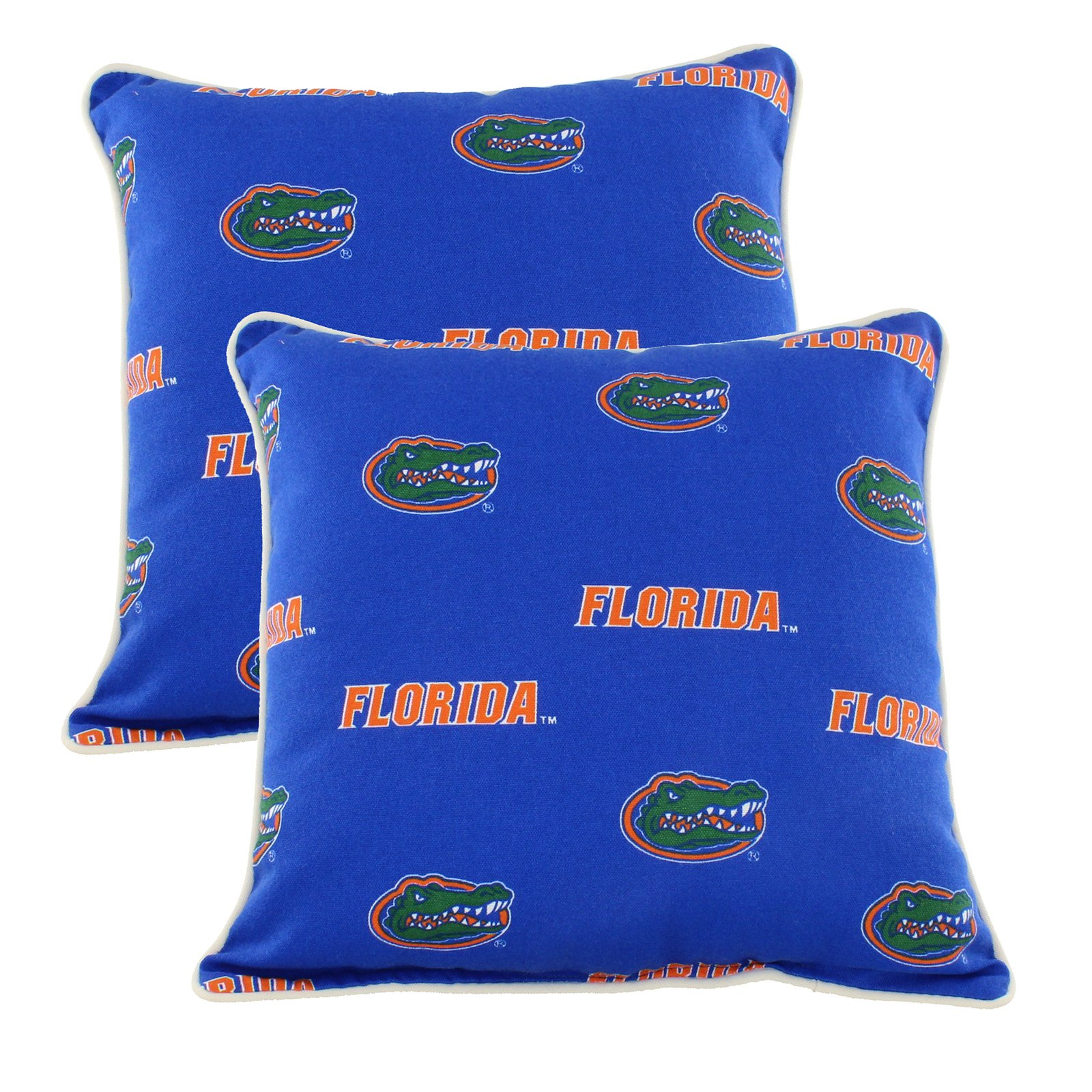 College Covers FLOODPPR Florida Gators Outdoor Decorative Pillow Pair, 16'' x 16'', Blue
