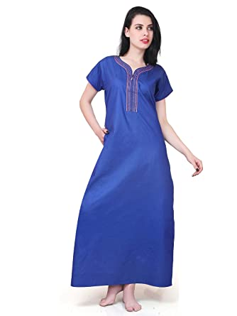 89bde3ec22 FARRY Maternity Nighty with Zip  Women Cotton Nighty   Nightgown   Sleepwear    Maxi   Silky Denim Nighty  Amazon.in  Clothing   Accessories
