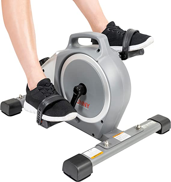Sunny Health & Fitness Magnetic Desk Cycle Mini Exercise Bike