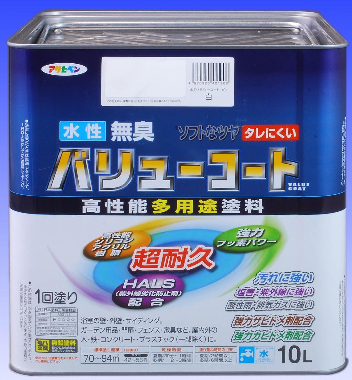 水性バリューコート 10L 白 10L B01H6DSOTC