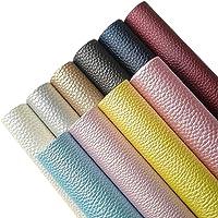 AUXIN 10 Pcs A4 Size Faux Leather Sheets Bows Earrings Making, PU Metallic Pearlescent Vivid Shiny Fabric Bundle Cotton…