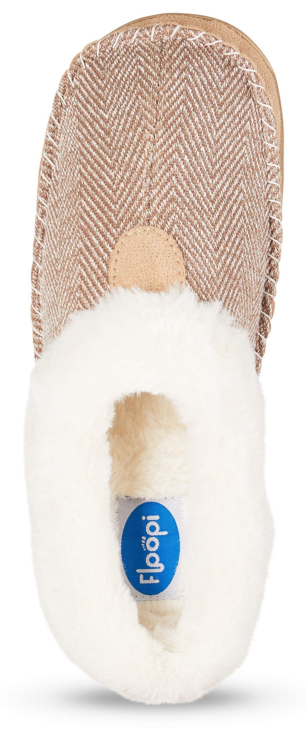 816106561e5 Floopi Womens Indoor Outdoor Herringbone Fur Lined Clog Slipper W Memory  Foam