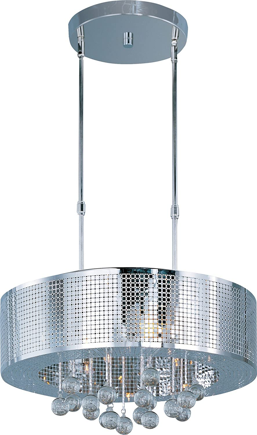 ET2 Lighting E24387-91PC Pendant with Bubble Detailed Glass Shades, Polished Chrome Finish by ET2 Lighting B0075AVQ2E