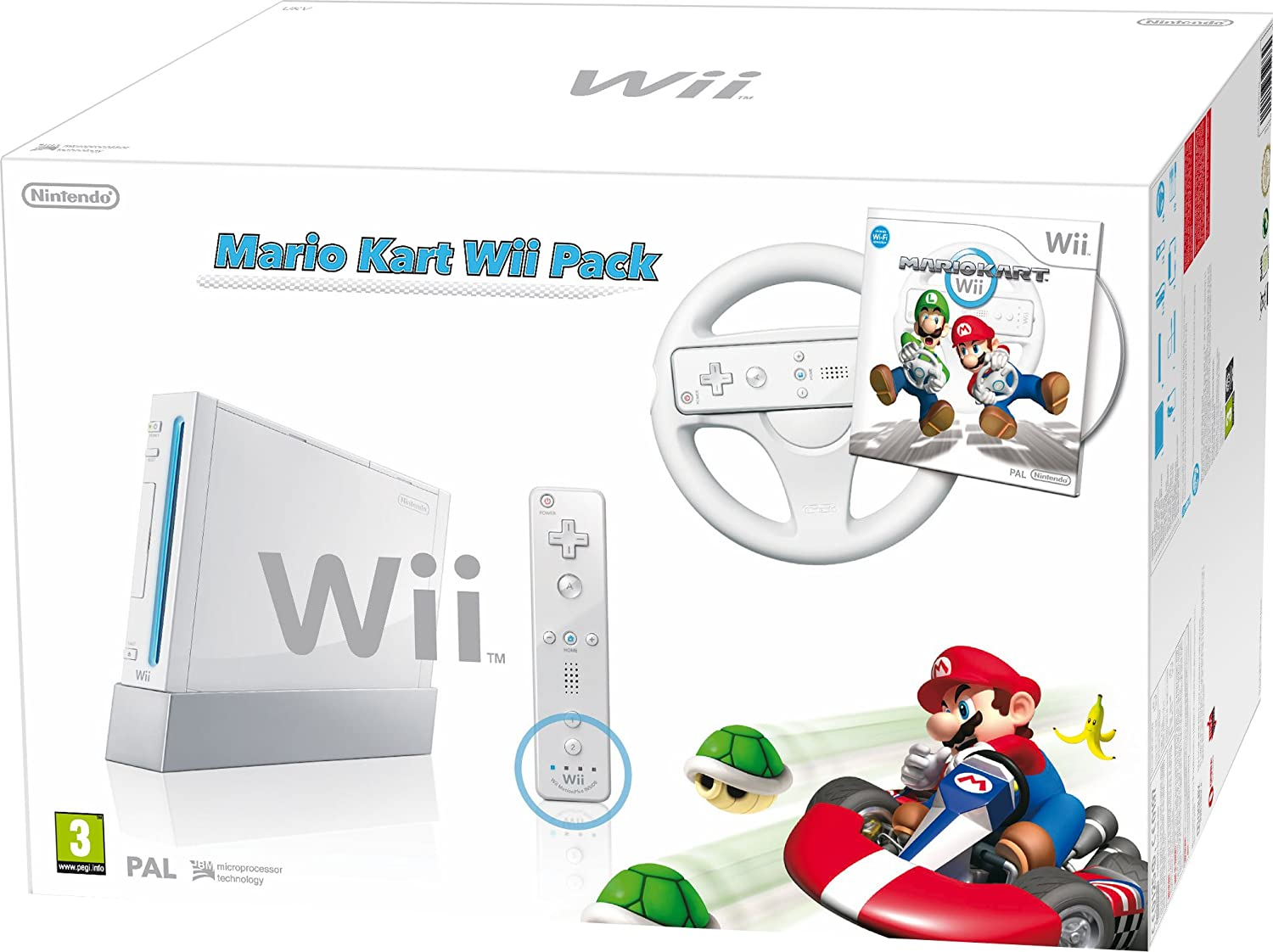 Nintendo Wii + Mario Kart - juegos de PC (Wii, IBM PowerPC, SD, 0.5 GB, 802.11b, 802.11g, Color blanco): Amazon.es: Videojuegos