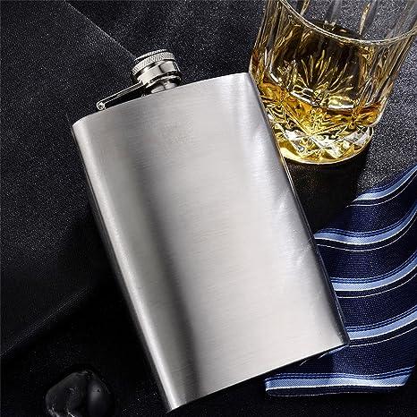 shenglin estilo clásico acero inoxidable licor Whisky Petaca de plata de 5 oz a 12 oz