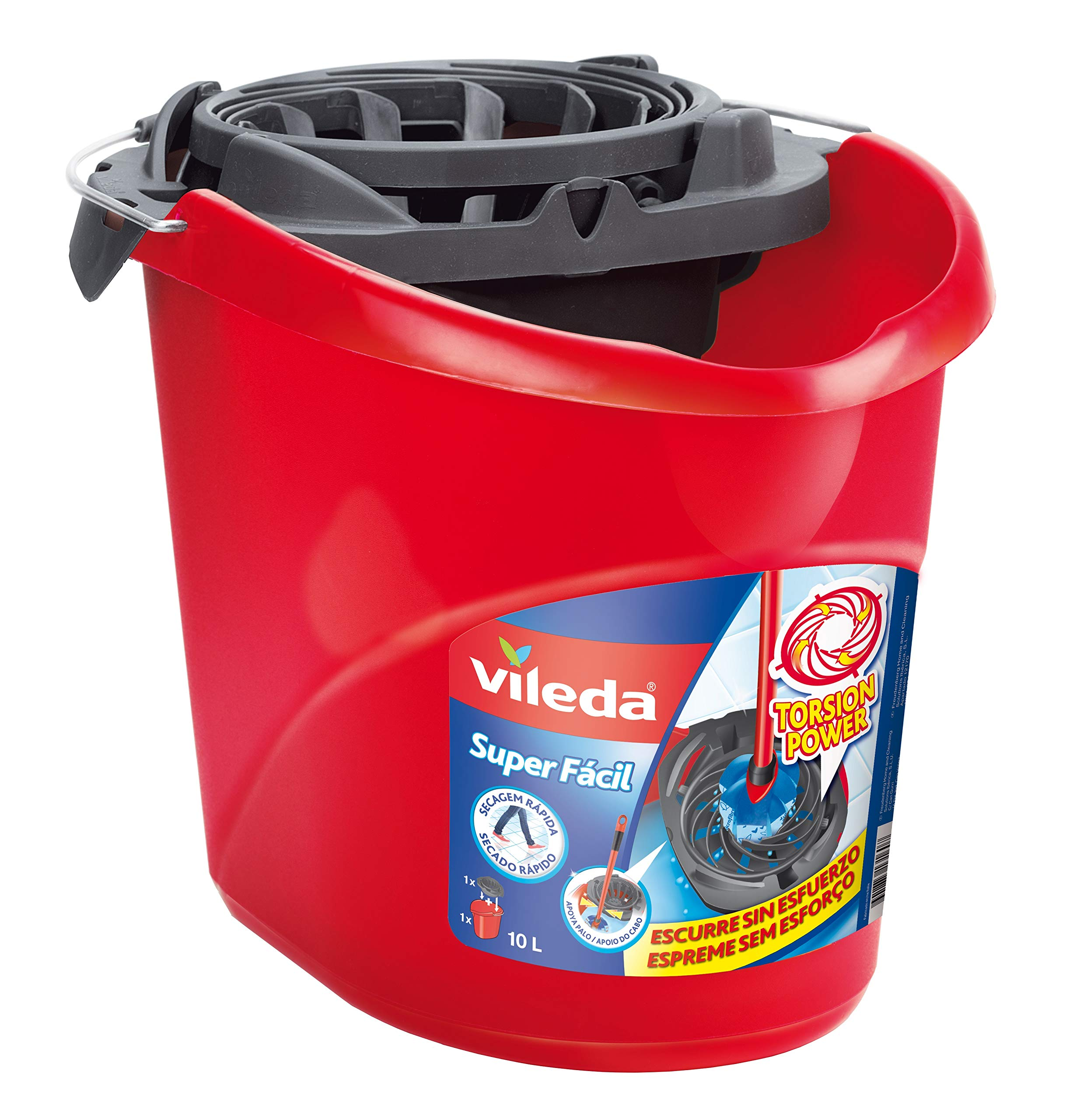 Vileda Torsion Power - Cubo superfácil, menos esfuerzo a la hora de escurrir, color